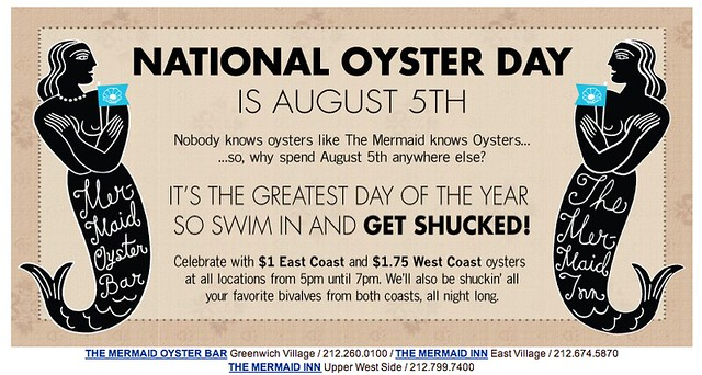 national oyster day at The Mermaid Inn