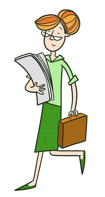 Briefcase Lady
