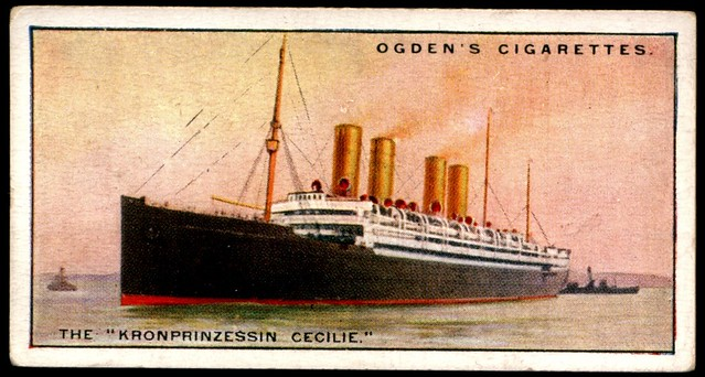 "Cigarette Card - Steamship ""Kronprinzessin Cecilie"""
