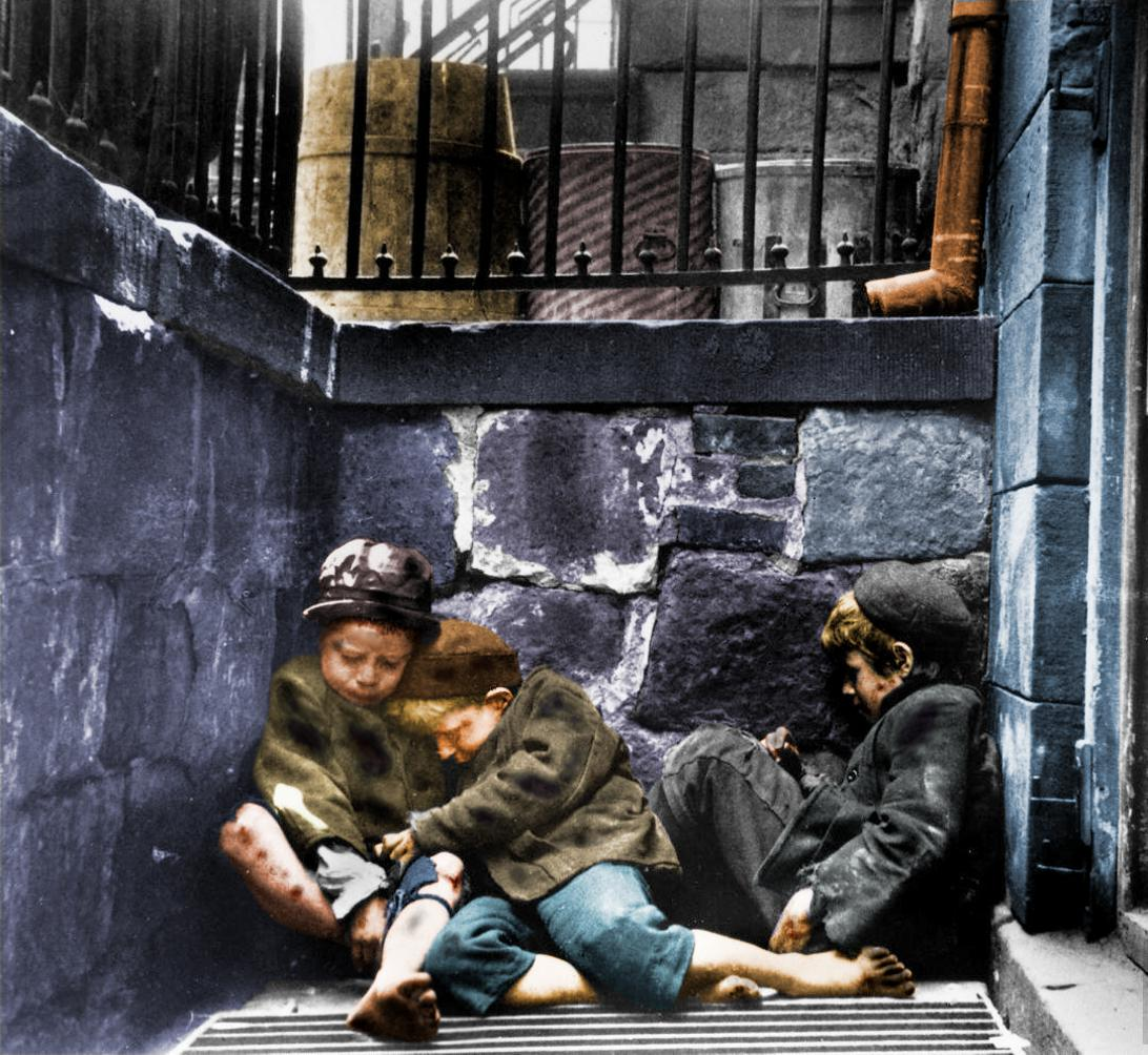 Children Sleeping in Mulberry Street (Street Arabs in ...