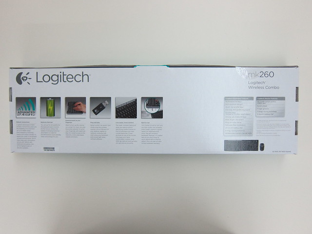 Logitech MK260 Wireless Combo - Box Back