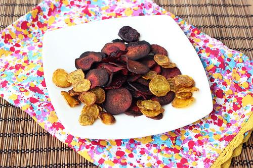 Crispy Baked Beet Chips - Gluten-free + Vegan