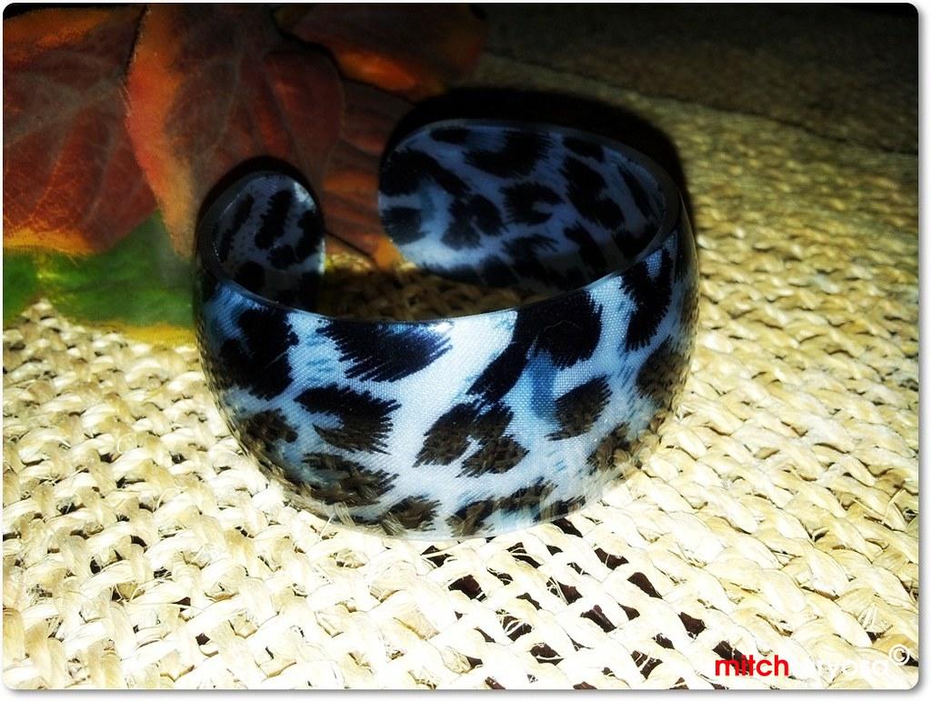 Animal print bangle