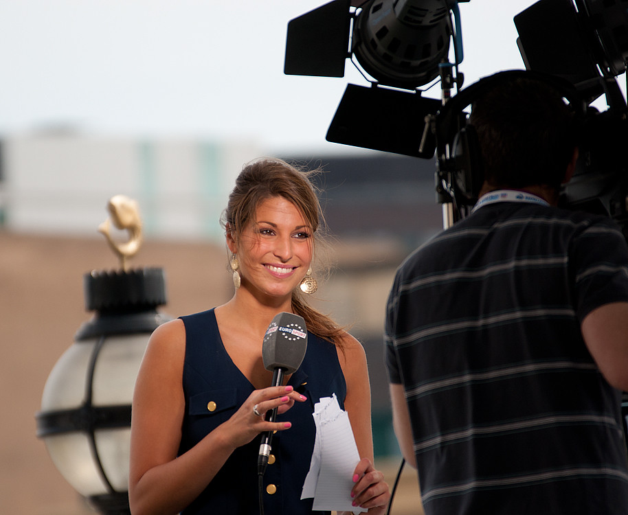 Laury Thilleman. Miss France 2011. 6th place at Miss Universe 2011. Journalist at Eurosport.