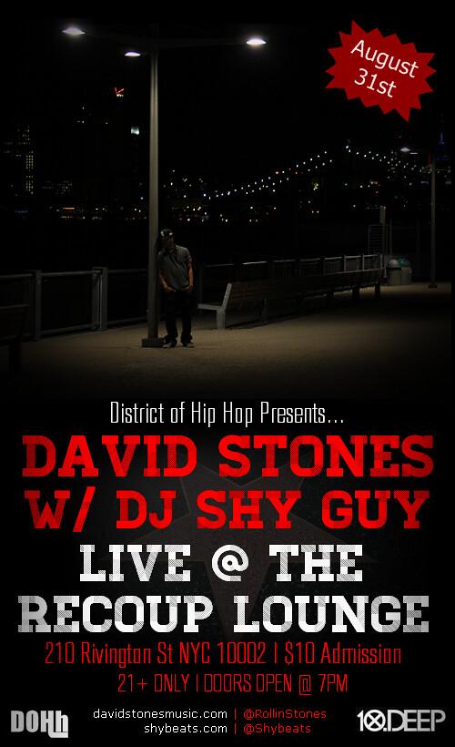 David Stones Live Show Flyer