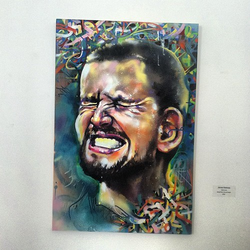 My Kevin Love hanging @ center for contemporary art's faculty show by eL hue V