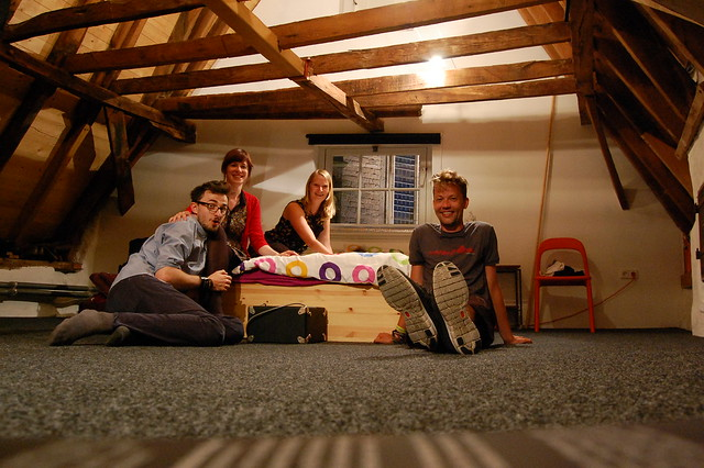 Our last night in the attic