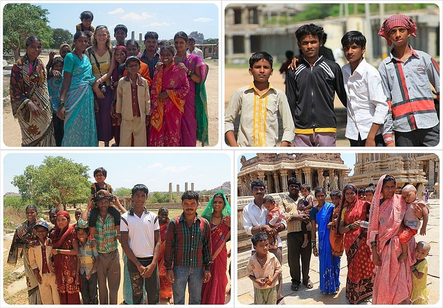 Indian families in Hampi