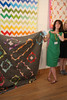 Katie with her Blind Co-Pilot quilt by hollybroadland