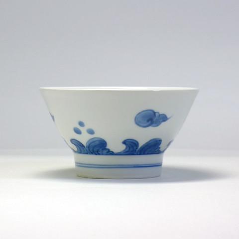 砥部焼 陽貴窯「くらわんか茶碗/雲(大)」