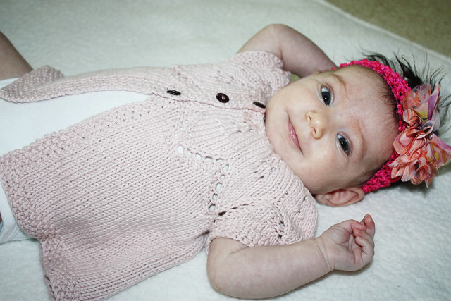 Emma in her Summer Petals Cardigan
