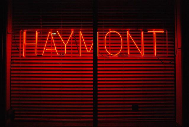 haymont neon sign