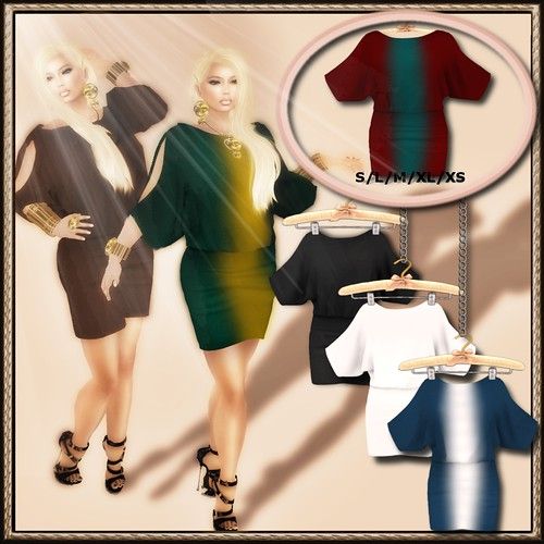 A&A Fashion Mesh Blouson Dress