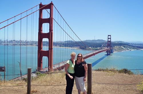 Mom and Kristi Golden Gate Bridge 2012