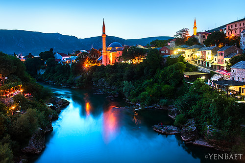 Mostar - Twilight at Koski Mehmed Pasha Mosque