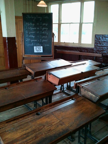 Victorian school room at Ragged School Museum London