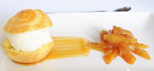 Choux Pastry with Caramelized Apple