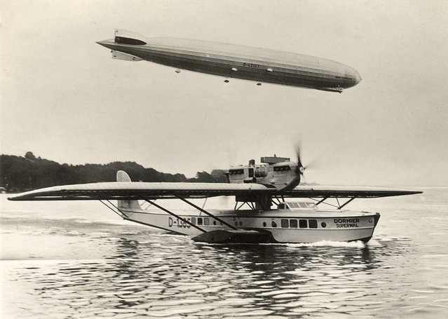 LZ 127 Graf Zeppelin & Dornier Superwal. 1928