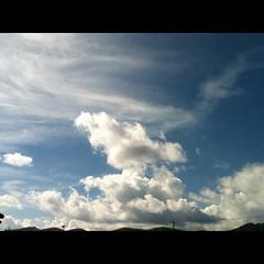 【写真】ソフトボール合宿4日目。いい天気! #空 #雲 #sky #cloud