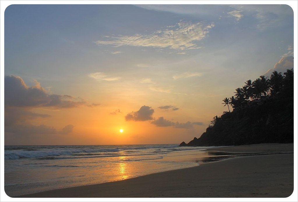 varkala beach sunset