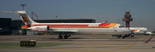 """EC-FHK. Iberia McDonnell Douglas MD87 """"Ciudad de Tarragona"""" @ Barcelona-El Prat"""