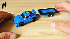 How to Build the Towing Car with Flatbed Trailer (MOC)