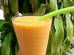 MANGO, PEACH AND YOGURT SMOOTHIE