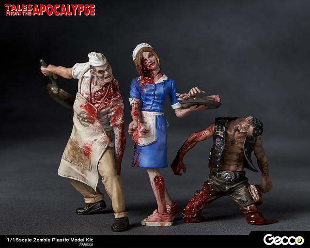 B級電影恐怖系列再臨!1/16 比例殭屍模型系列《地獄殭屍默示錄》Series No.05:女服務生