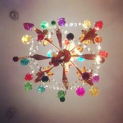 Crazy kitchen chandelier at Susan's.