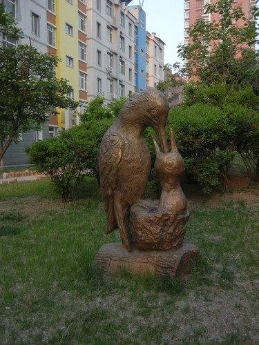Sculpture inside Residential Compound, Shenyang _ 9909