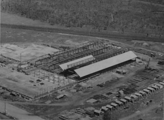 Pineapple cannery under construction at Northgate, 1946