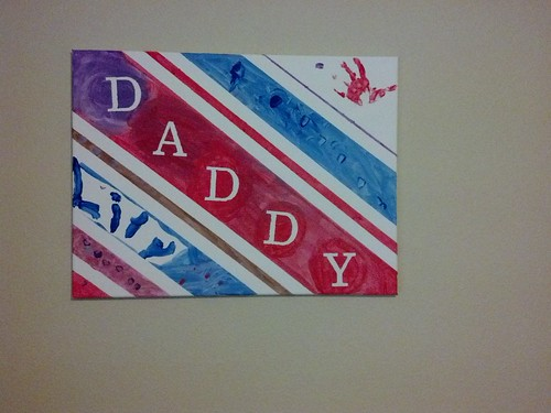Waldo's father's day canvas