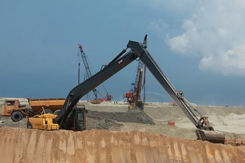 國光石化到馬來西亞邊佳蘭,攝影:卓衍豪。 開發工程已在如火如荼展開