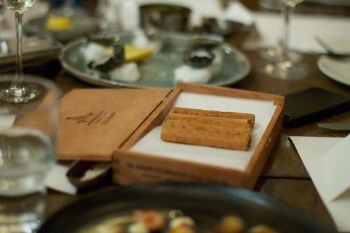 Foie gras cigar