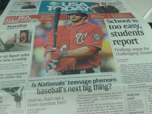 Bryce Harper, USA TODAY cover boy