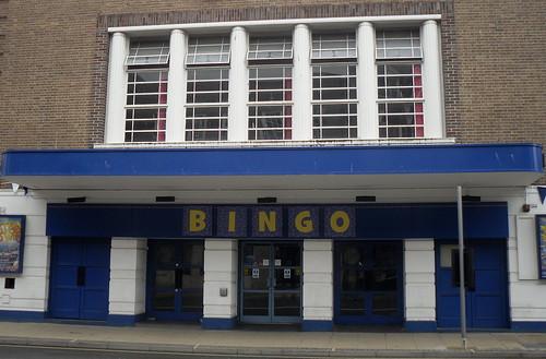 Facade of former Gaumont Cinema, Worcester, Worcestershire
