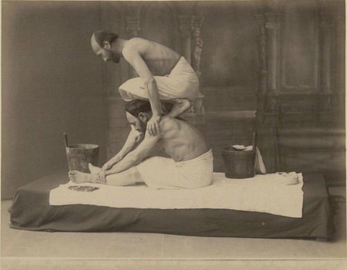 Massage In Baths of Tbilisi 1890 by Art & Vintage
