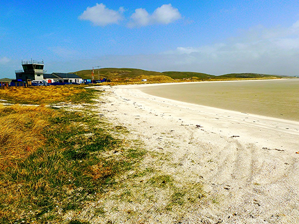Barra Airport, Outer Hebrides, Scotland