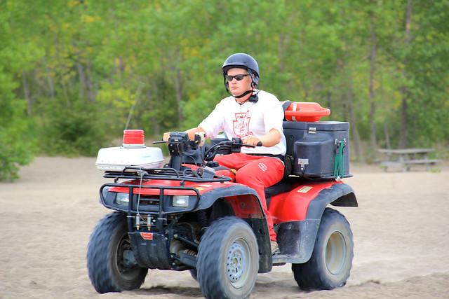 Lifeguard riding ATV on the beaches | @ Presque Isle State ...