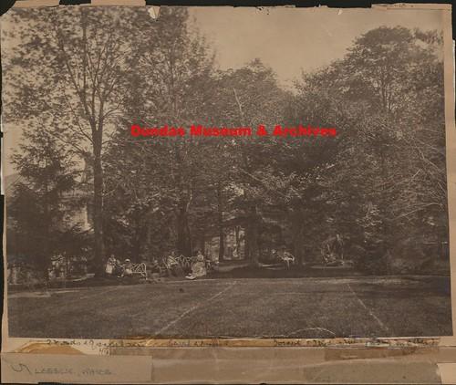 Joseph Lesslie family in the garden