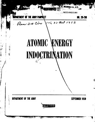 Atomic Energy Indoctrination