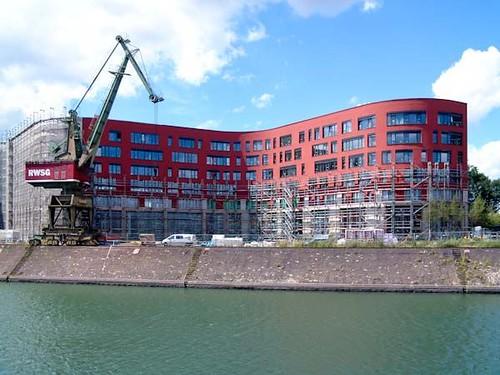 Landesarchiv-NRW-Baustelle im Duisburger Innenhafen