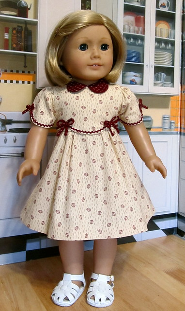 1930 39 s frock made to fit 18 american girl doll kit or ruthie an original design by. Black Bedroom Furniture Sets. Home Design Ideas