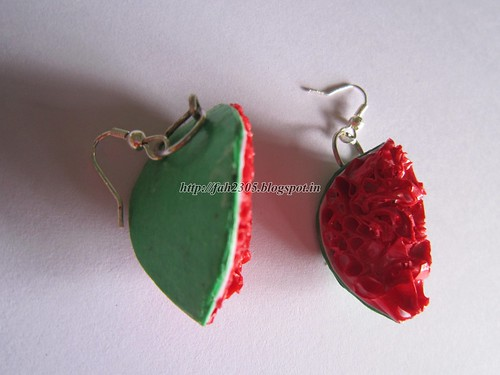 Handmade Jewelry - Paper Quilling Water Melon (3) by fah2305