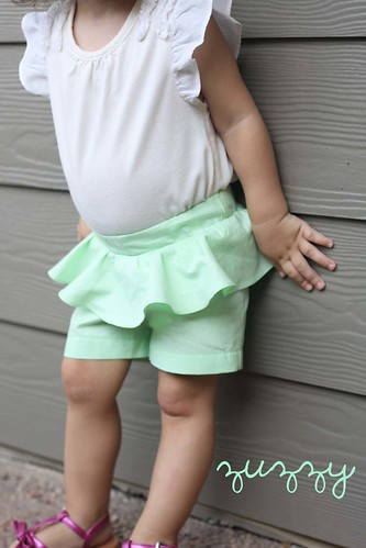 Mint Peplum Shorts by ZUZZY