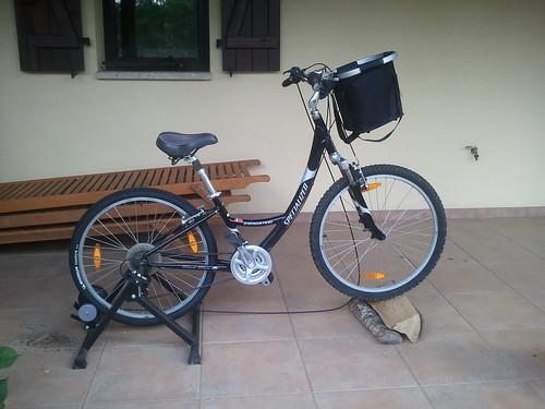 La bici de Isabel Pagola en el rodillo