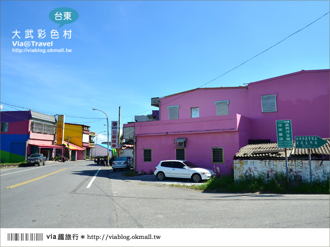 【台東新景點】台東大武彩虹街~全台最夢幻的彩色街弄!8