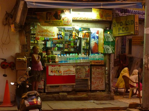 Shop in Delhi at night