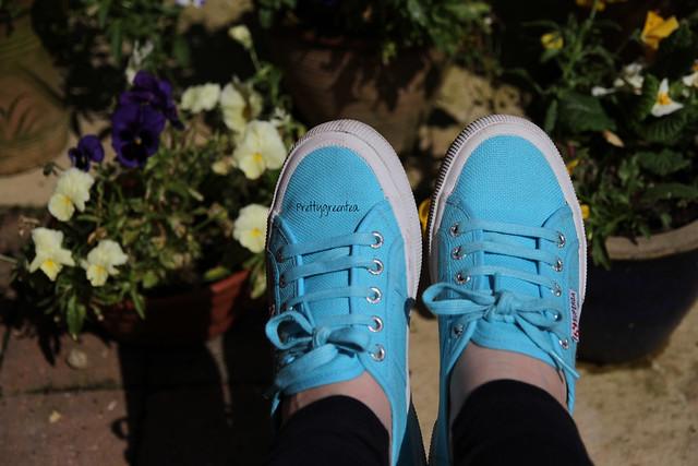 Prettygreentea blue Superga