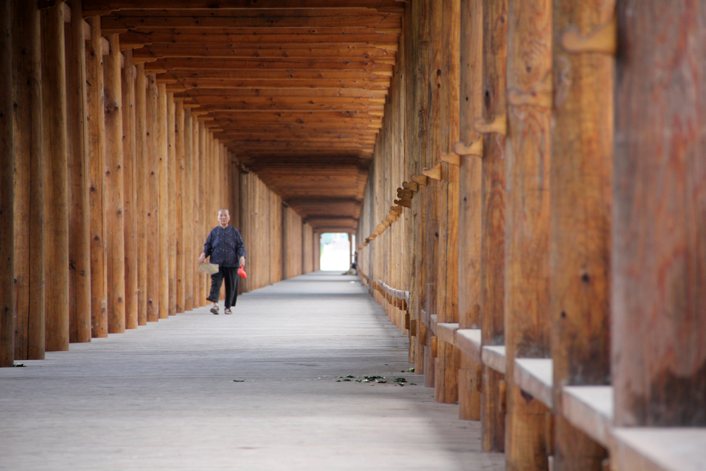 Quiet and peaceful inside the bridge